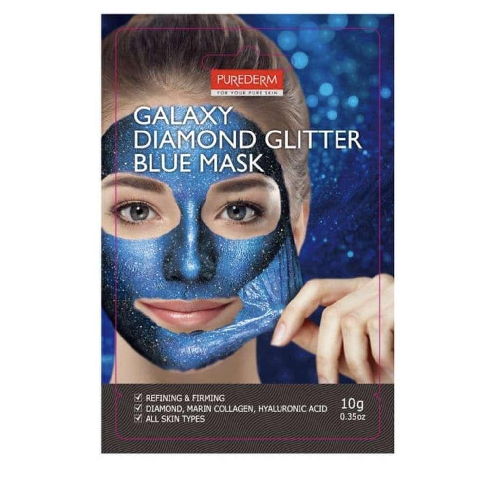 Galaxy Diamond Glitter Blue Mask ( Glitter mask blue)